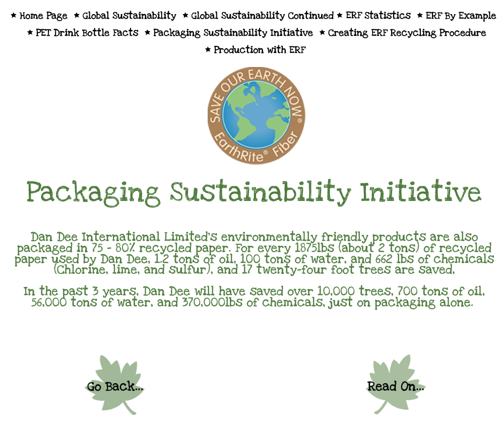 Packaging Sustainability Initiative